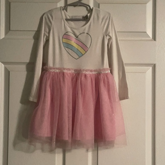 Pink heart glitter dress